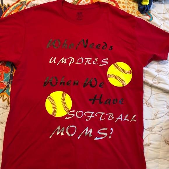 Fruit Of The Loom Tops 5 Softball Mom T Shirts 1 Price Poshmark